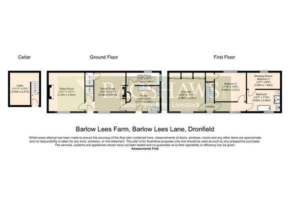 Lot 1: Barlow Lees Farm, Barlow Lees, Barlow, Dronfield