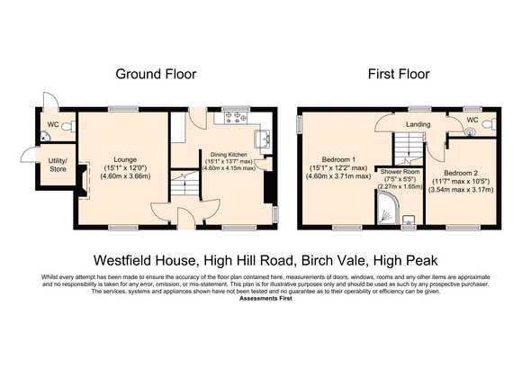 Westfield House , High Hill Road, Birch Vale, High Peak