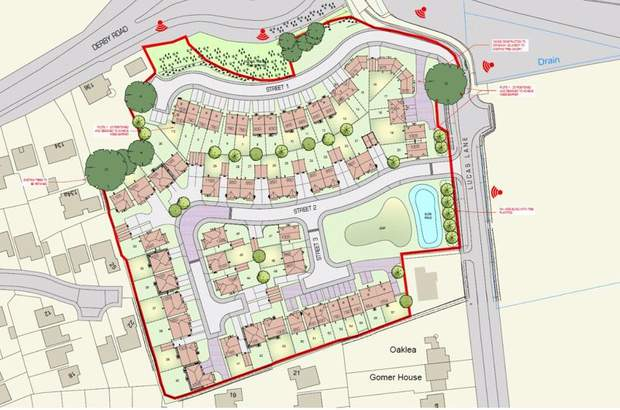 Residential Development Site, off Lucas Lane, Hilton, Derby - Image 1
